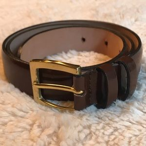 BROOKS BROTHERS Brown Leather Belt - Sz M